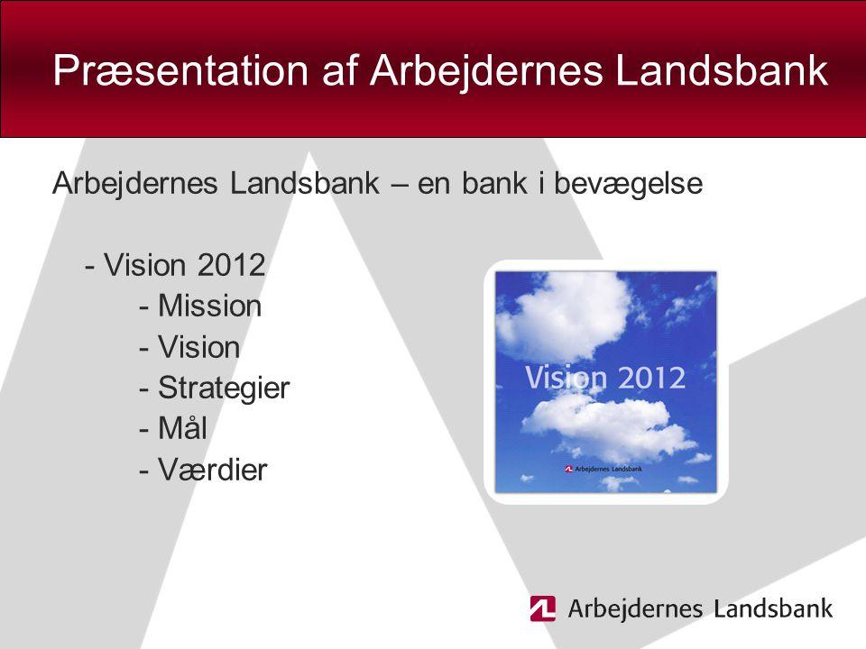 Præsentation af Arbejdernes Landsbank