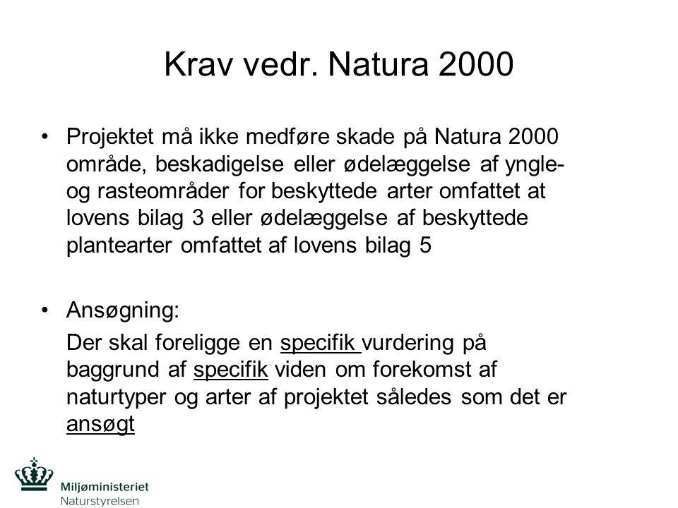 Krav vedr. Natura 2000