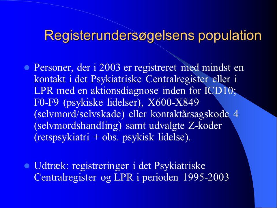Registerundersøgelsens population