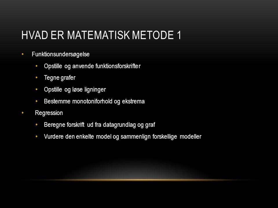 Hvad er matematisk metode 1