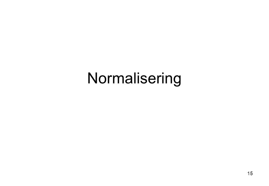 Normalisering