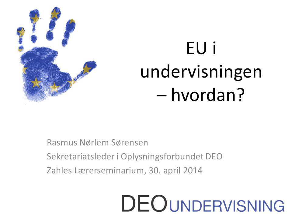 EU i undervisningen – hvordan