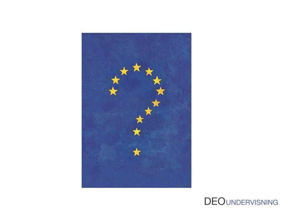 Rigtig rigtig mange er bare i tvivl om, hvad EU er for noget