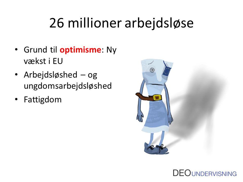 26 millioner arbejdsløse