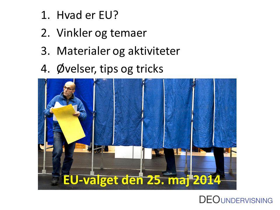 EU-valget den 25. maj 2014 Hvad er EU Vinkler og temaer