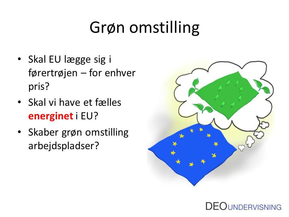 Grøn omstilling Skal EU lægge sig i førertrøjen – for enhver pris