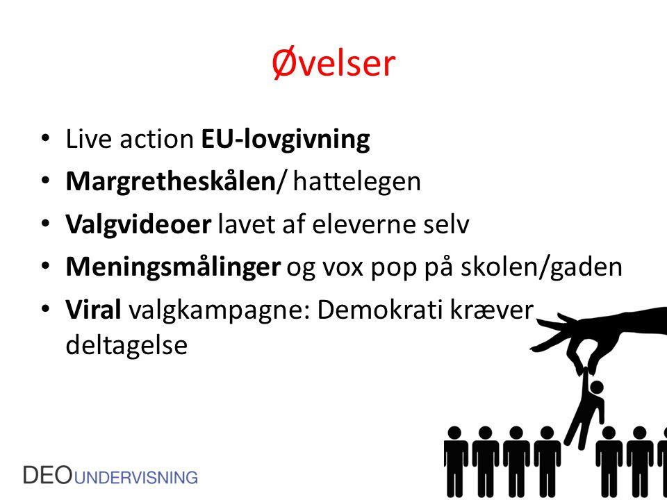 Øvelser Live action EU-lovgivning Margretheskålen/ hattelegen