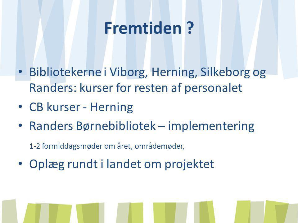 Fremtiden Bibliotekerne i Viborg, Herning, Silkeborg og Randers: kurser for resten af personalet.