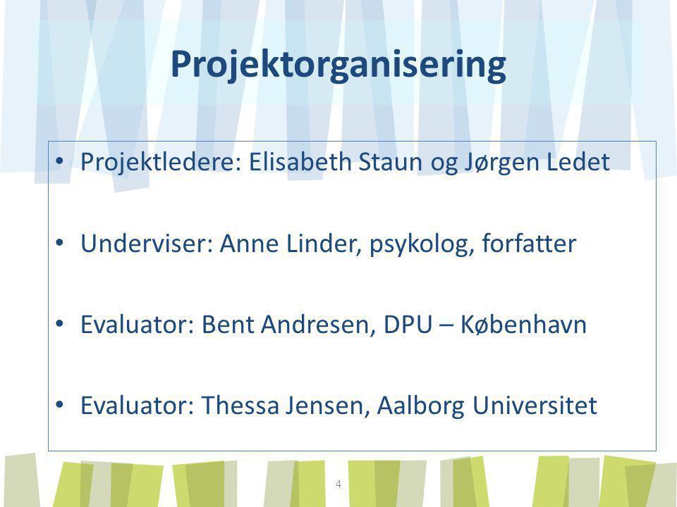 Projektorganisering Projektledere: Elisabeth Staun og Jørgen Ledet