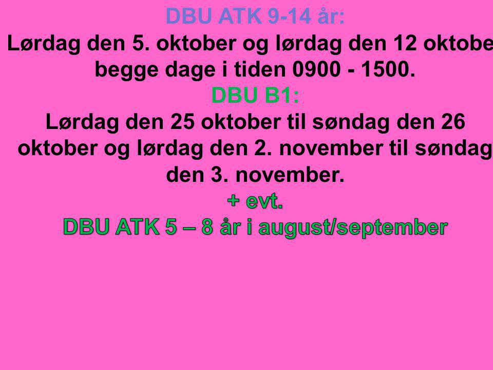 DBU ATK 5 – 8 år i august/september