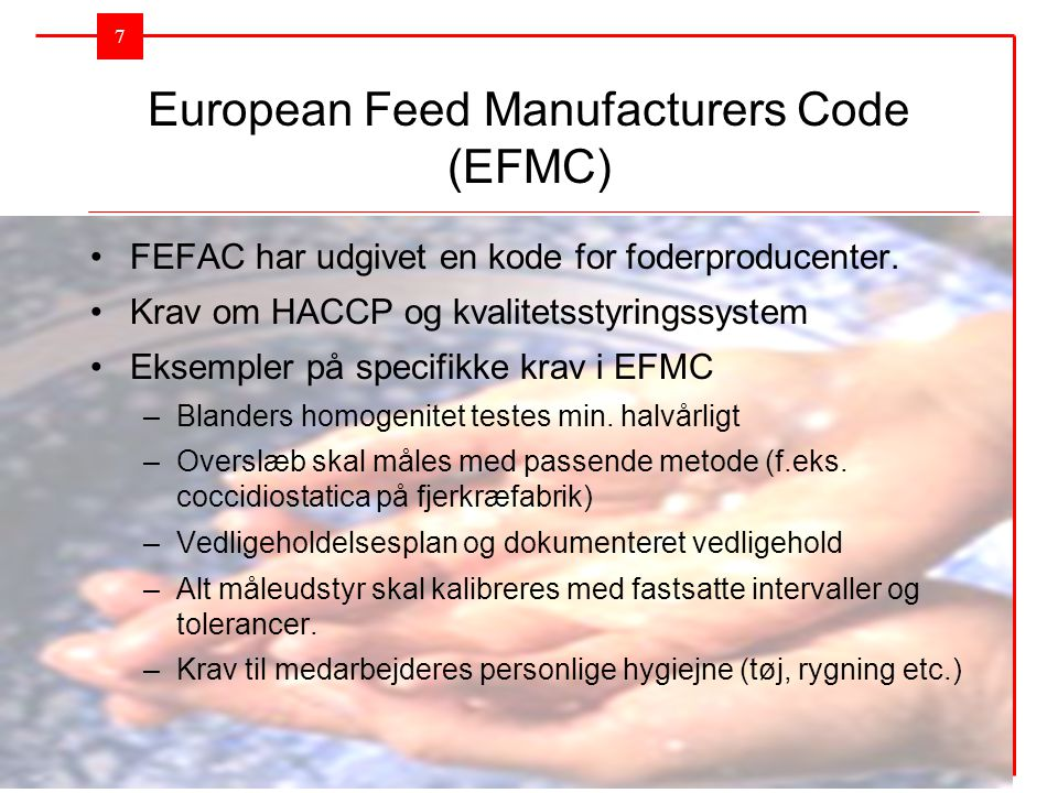 European Feed Manufacturers Code (EFMC)
