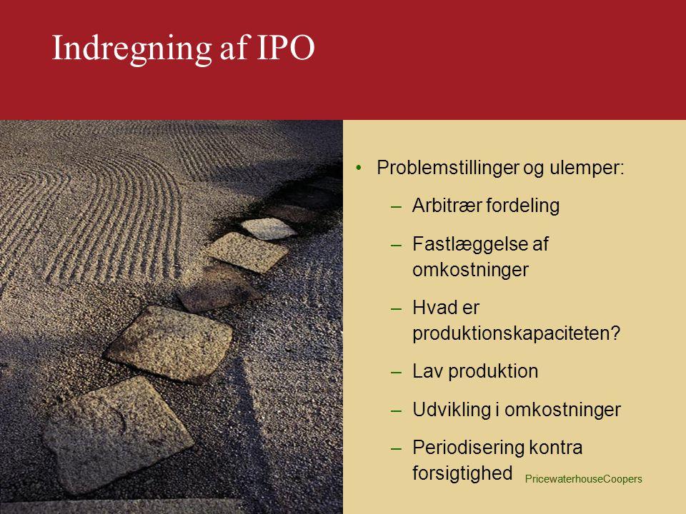 Indregning af IPO Problemstillinger og ulemper: Arbitrær fordeling