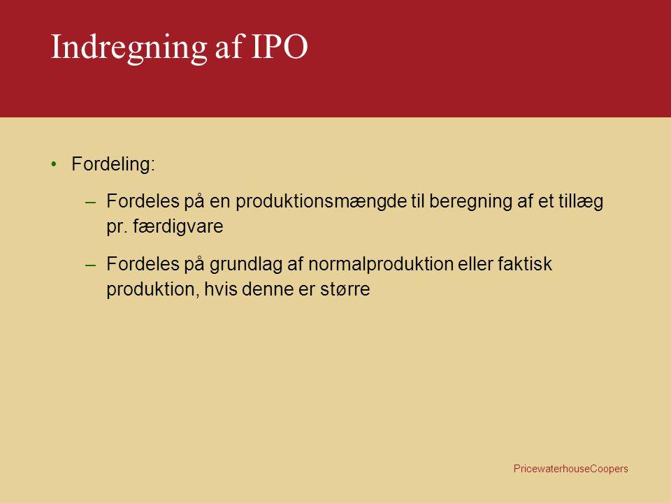 Indregning af IPO Fordeling: