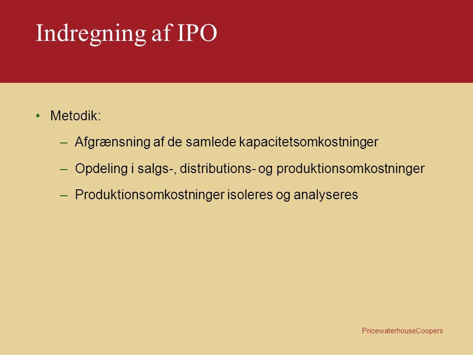 Indregning af IPO Metodik: