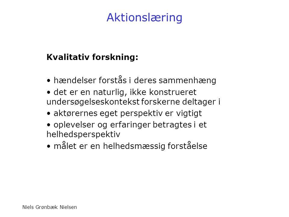 Aktionslæring Kvalitativ forskning: