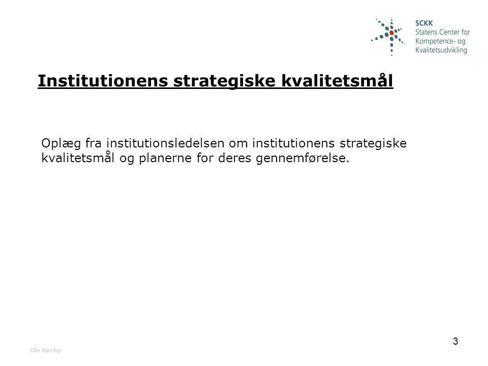 Institutionens strategiske kvalitetsmål