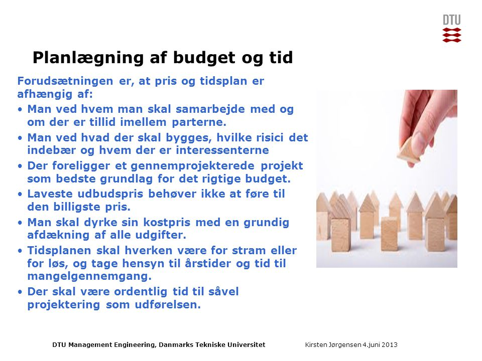 Planlægning af budget og tid