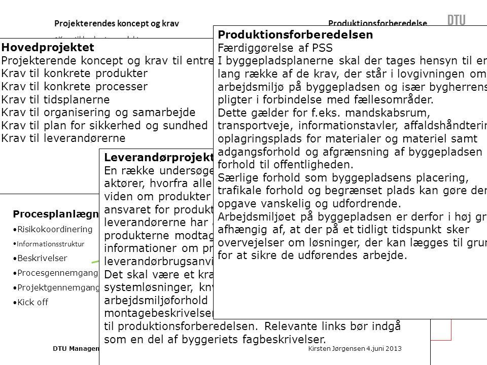 Produktværdi og kvalitet Procesværdi og planlægning