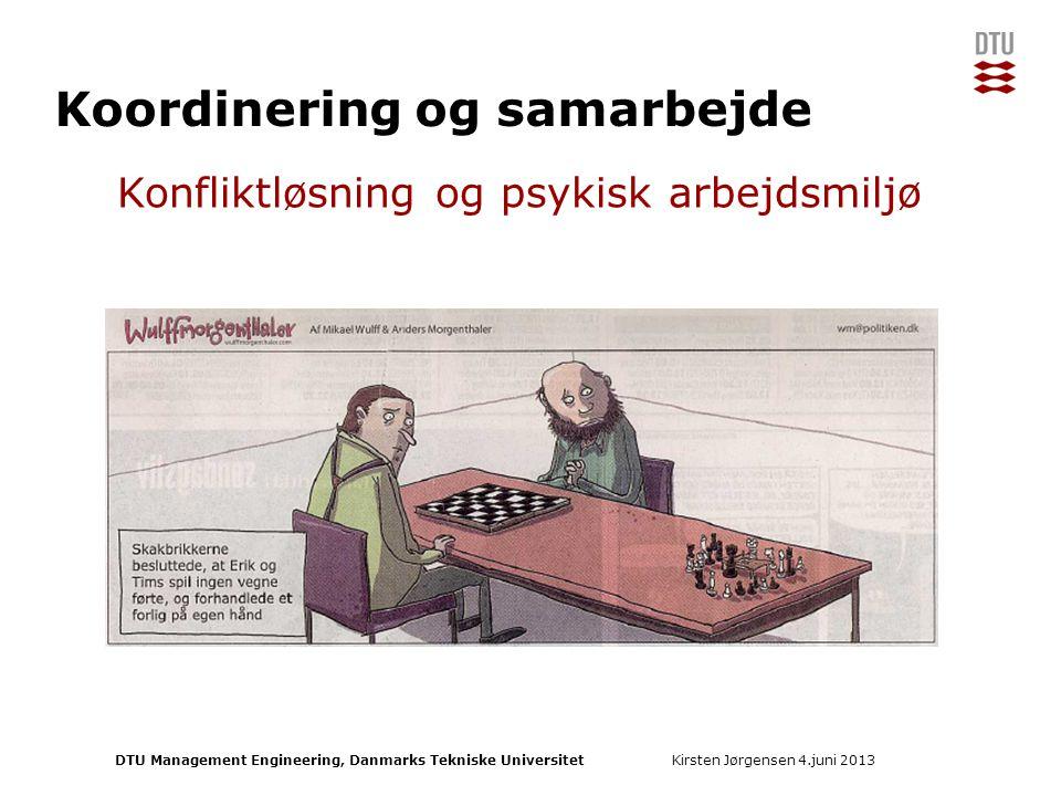 Koordinering og samarbejde