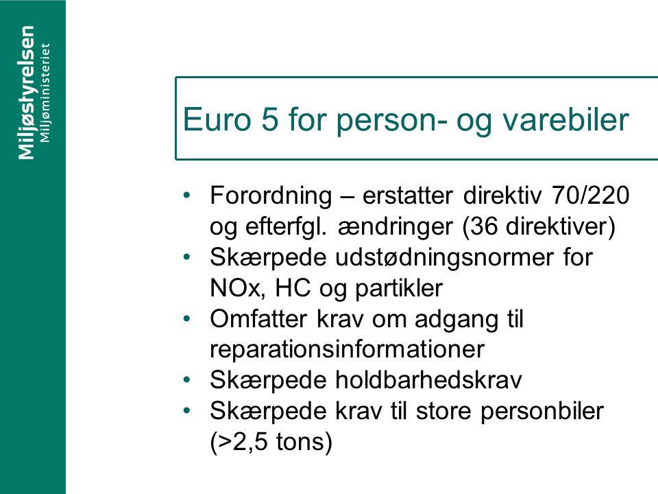Euro 5 for person- og varebiler