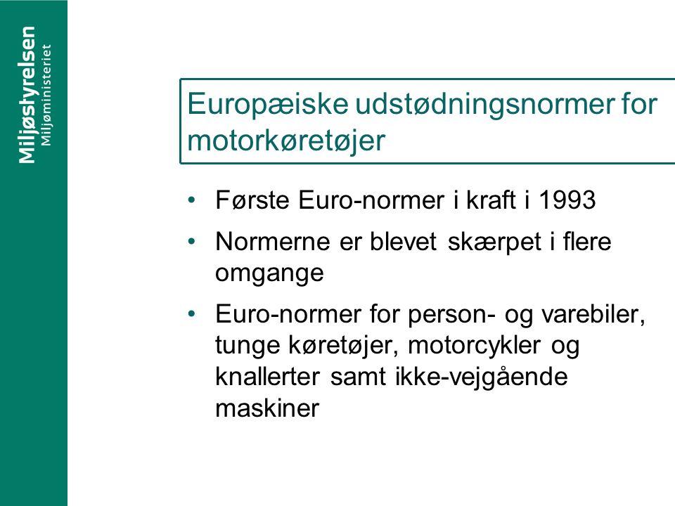 Europæiske udstødningsnormer for motorkøretøjer