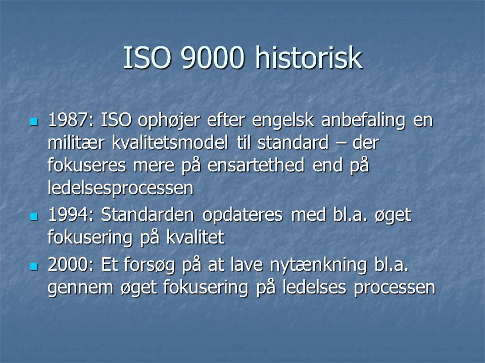 ISO 9000 historisk