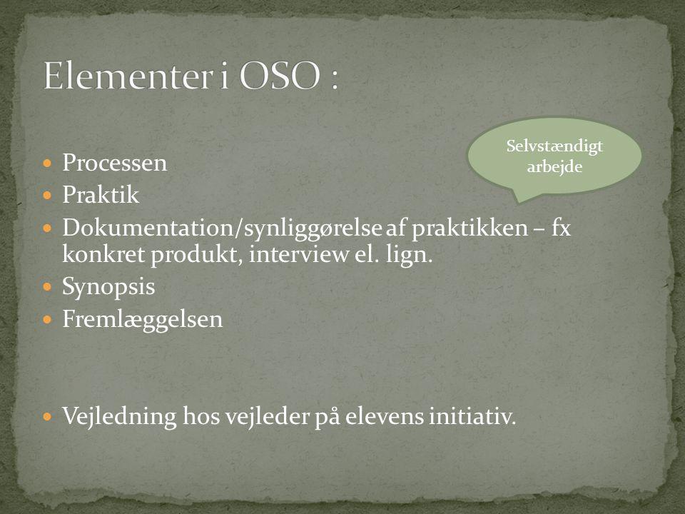 Elementer i OSO : Processen Praktik