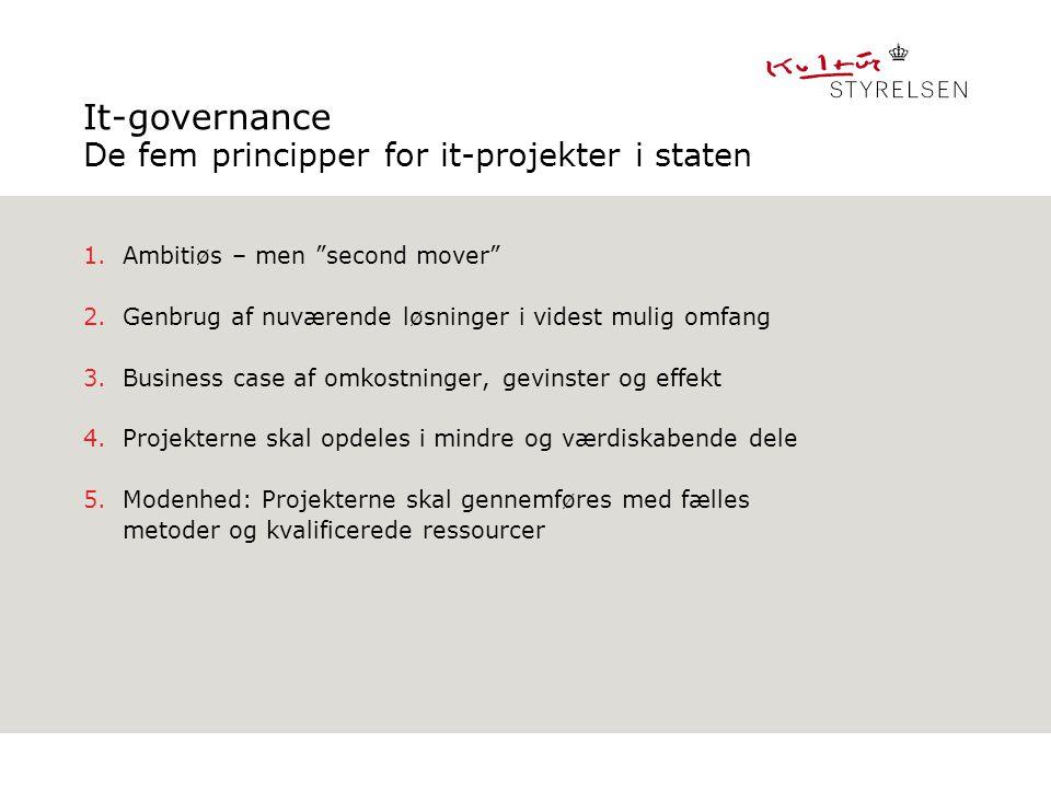 It-governance De fem principper for it-projekter i staten