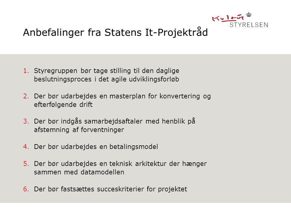Anbefalinger fra Statens It-Projektråd