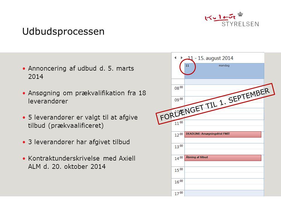 Udbudsprocessen FORLÆNGET TIL 1. SEPTEMBER