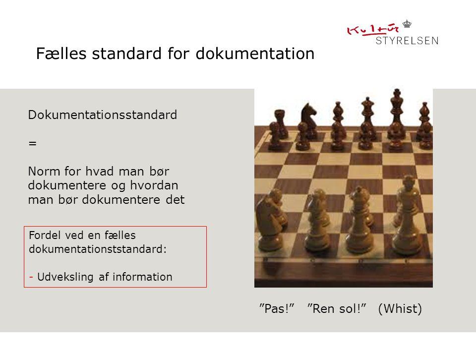 Fælles standard for dokumentation
