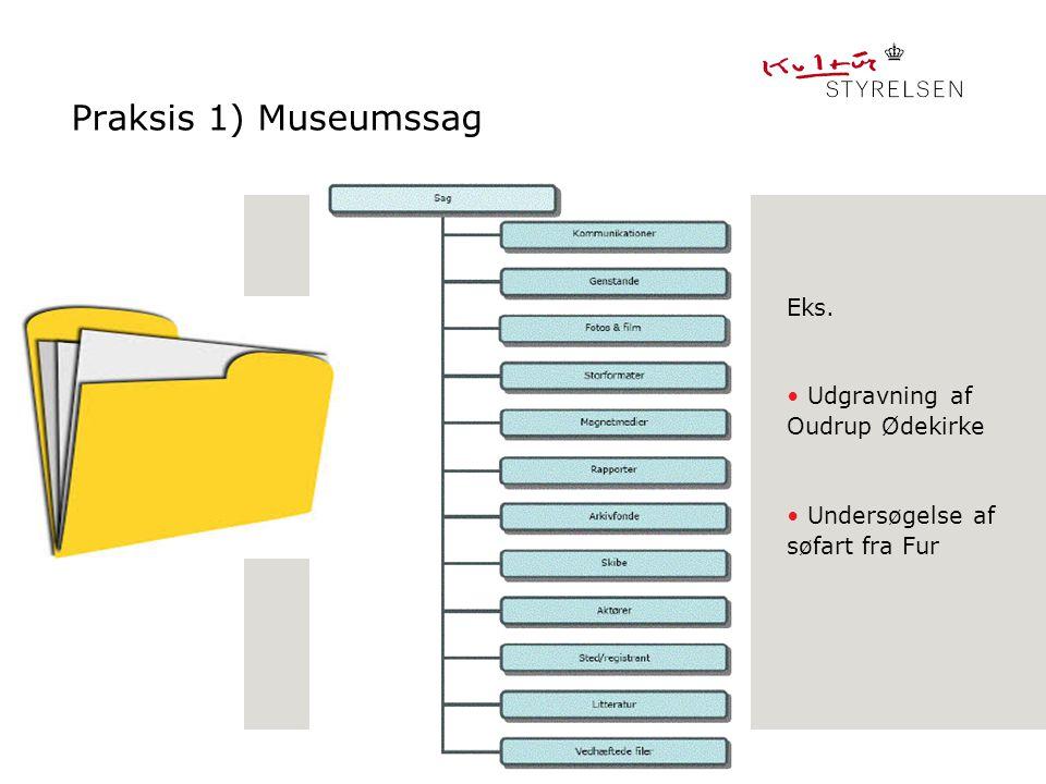Praksis 1) Museumssag Fælles løsninger _____________ Eks.