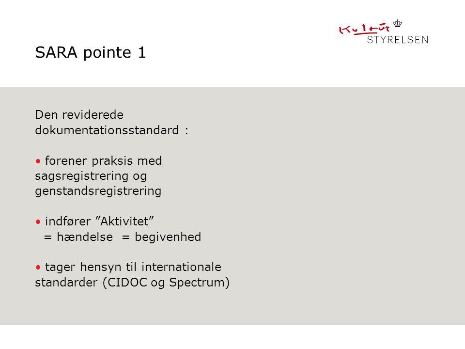 SARA pointe 1 Den reviderede dokumentationsstandard :