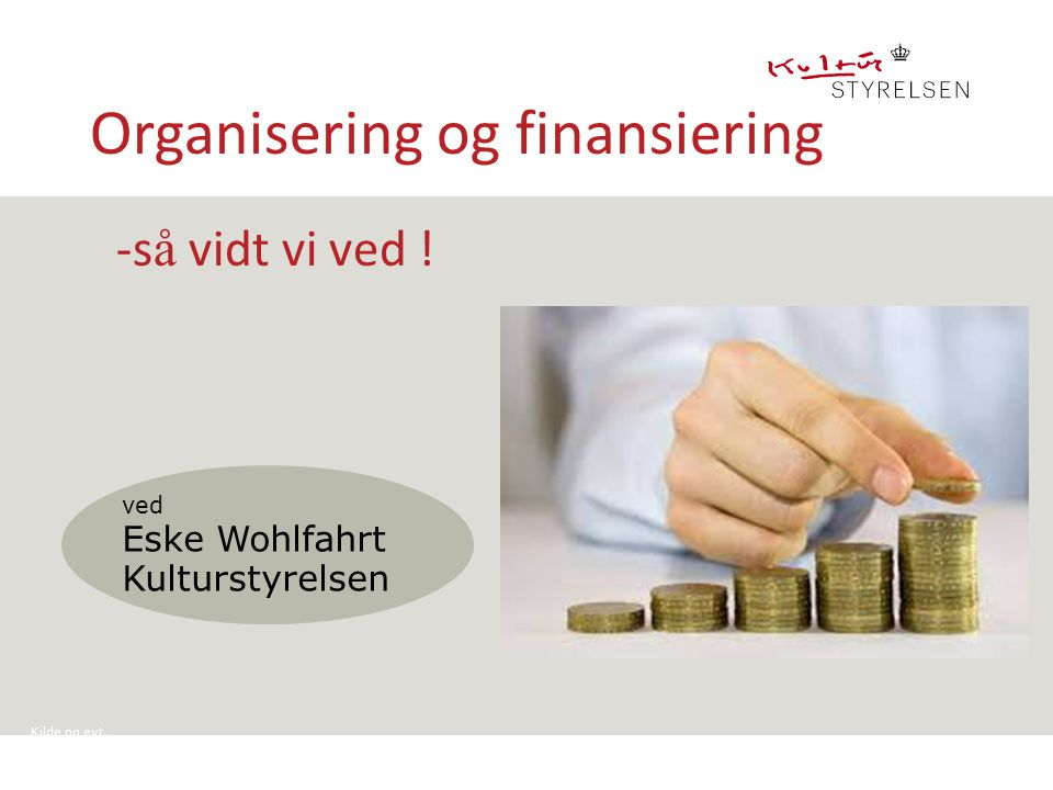 Organisering og finansiering