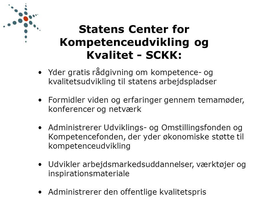 Statens Center for Kompetenceudvikling og Kvalitet - SCKK: