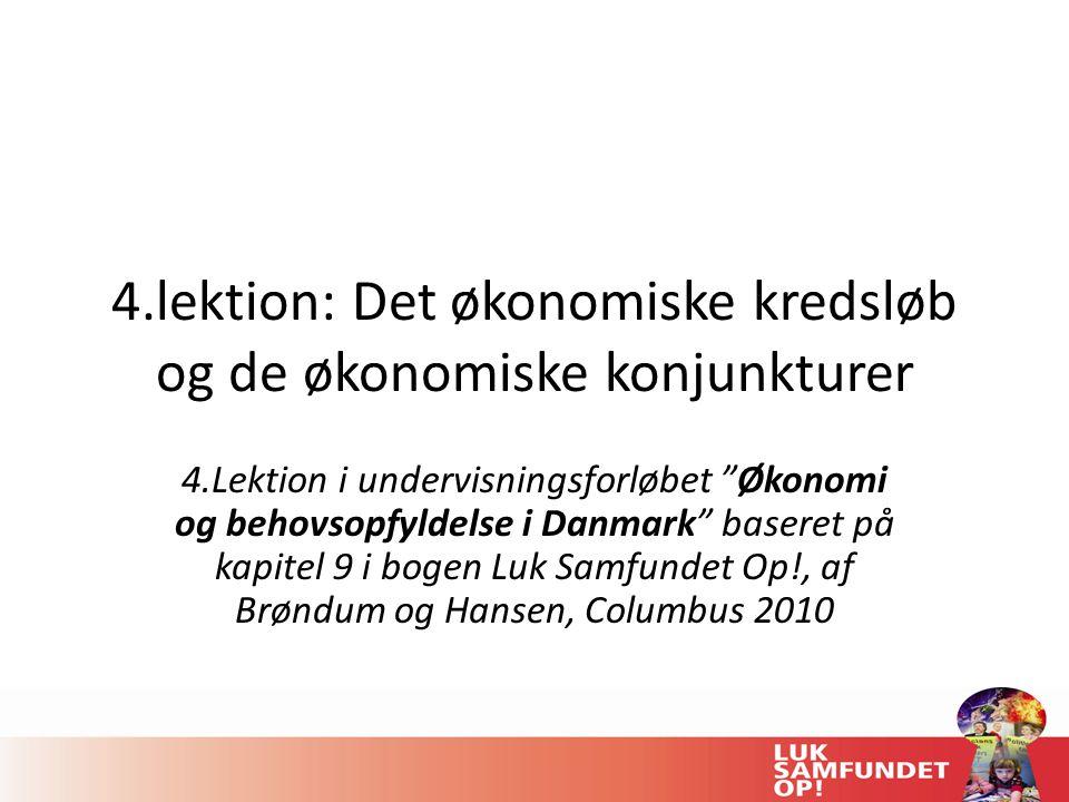 4.lektion: Det økonomiske kredsløb og de økonomiske konjunkturer