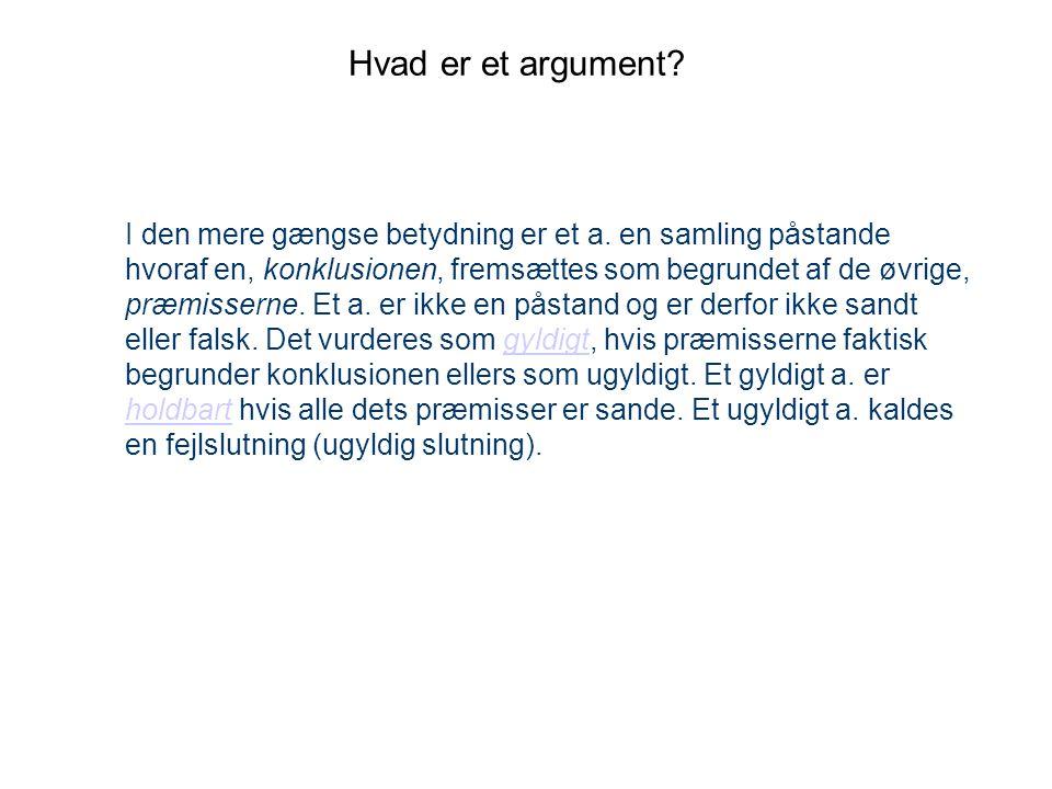 Hvad er et argument