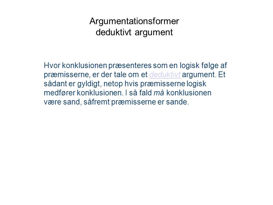 Argumentationsformer deduktivt argument