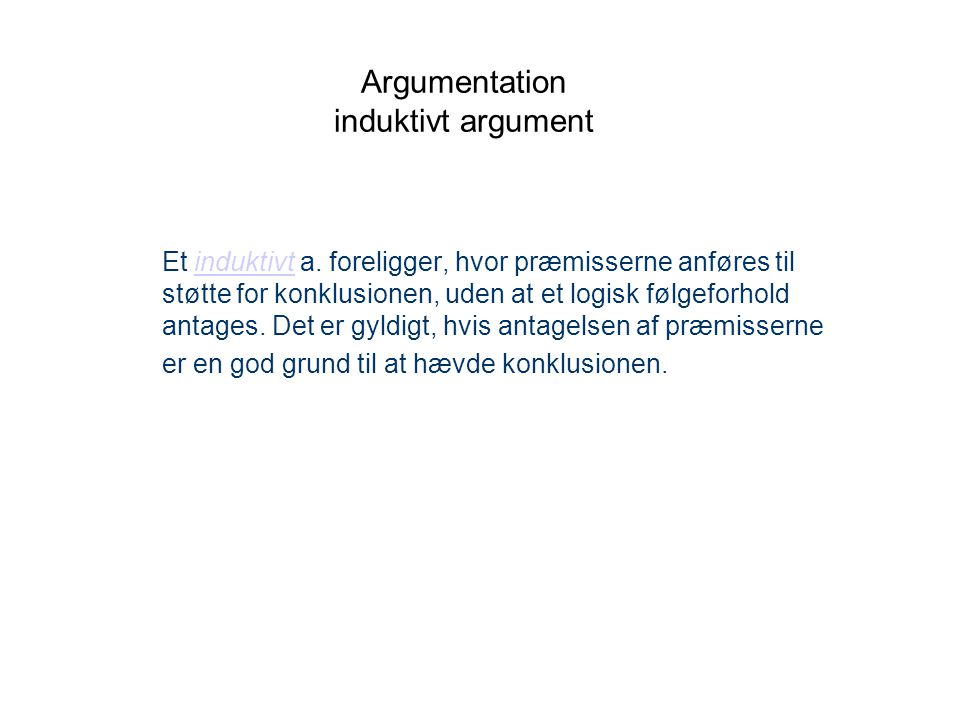 Argumentation induktivt argument