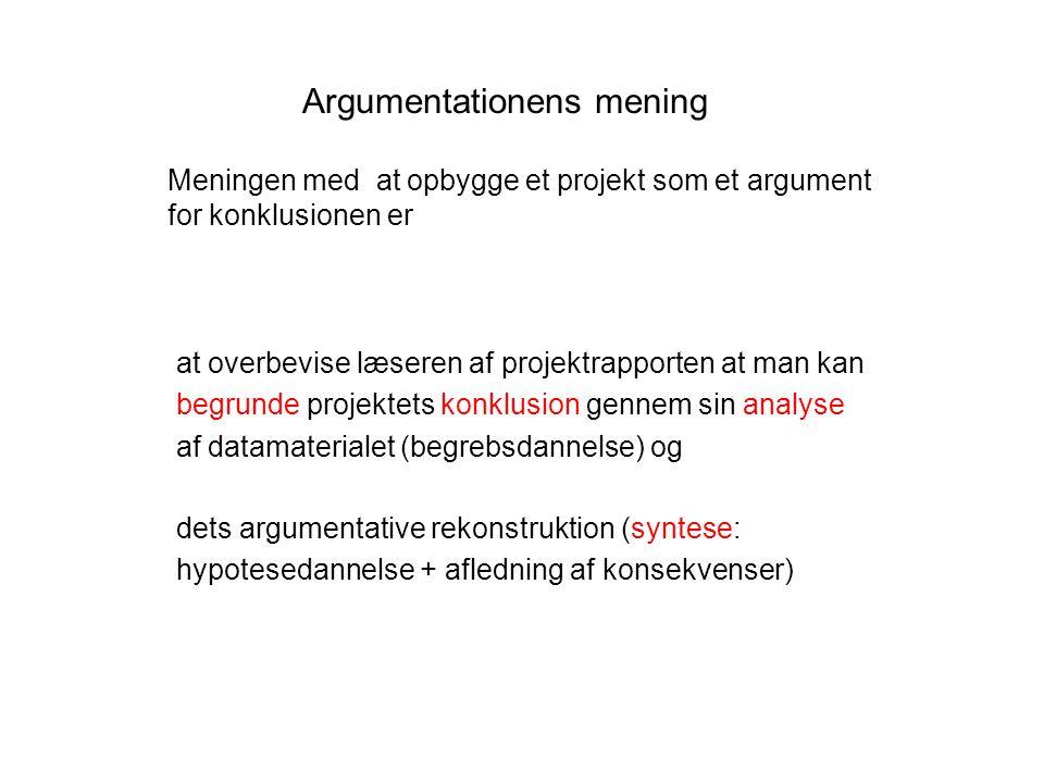 Argumentationens mening