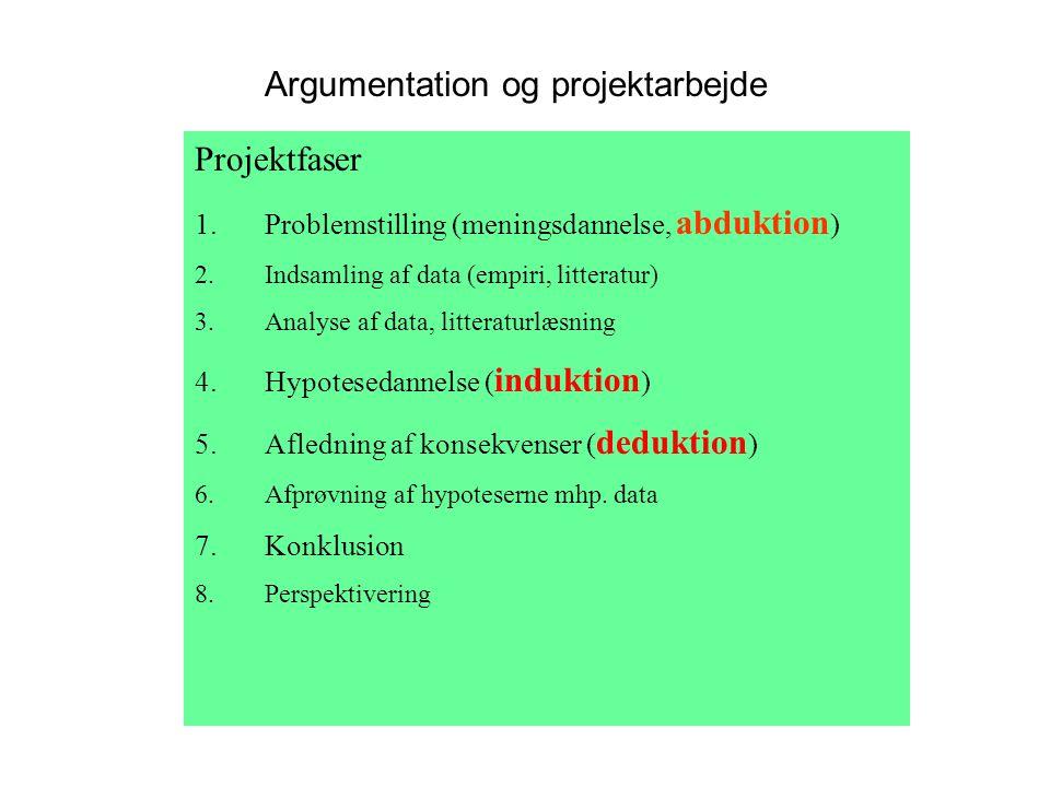 Argumentation og projektarbejde