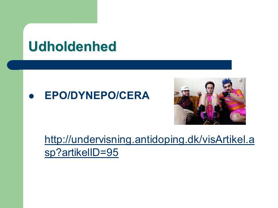 Udholdenhed EPO/DYNEPO/CERA