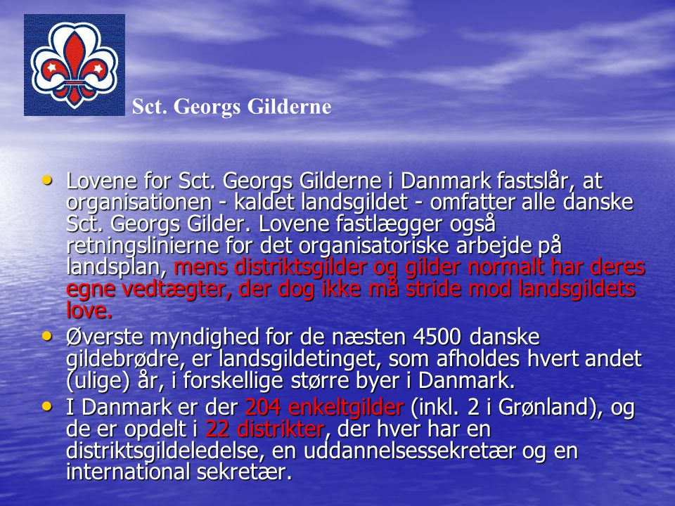 Sct. Georgs Gilderne