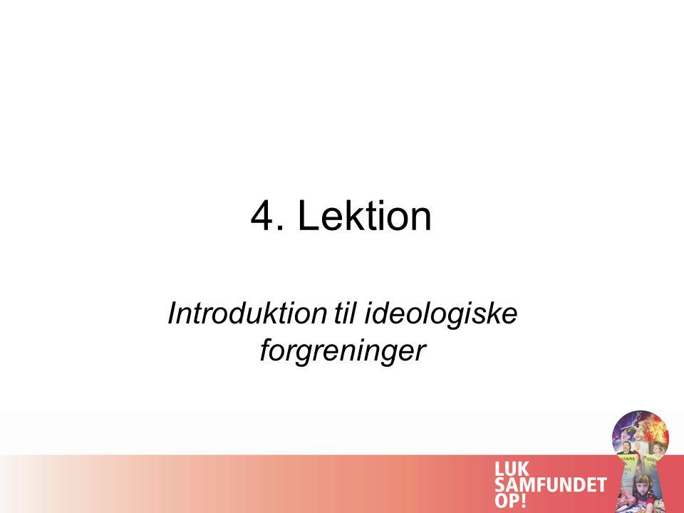 Introduktion til ideologiske forgreninger