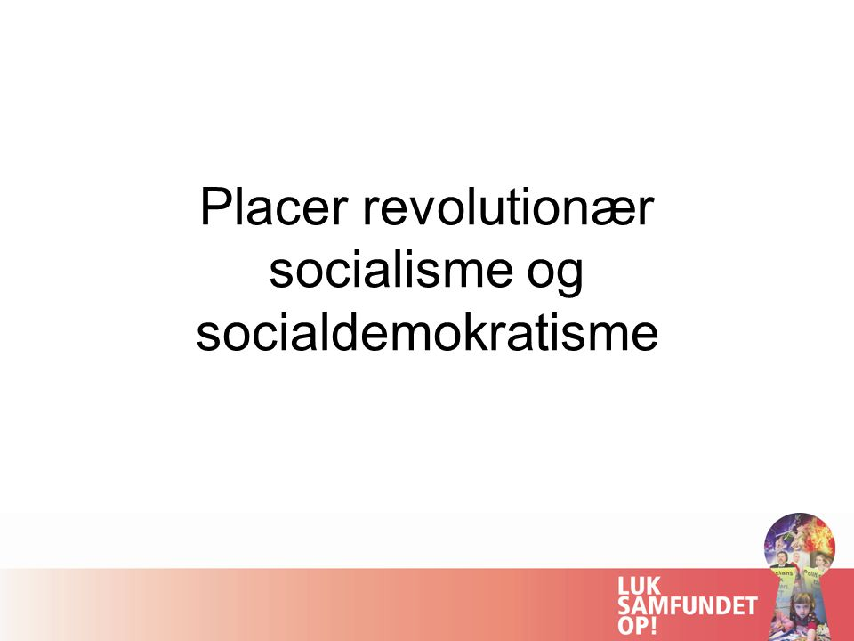 Placer revolutionær socialisme og socialdemokratisme