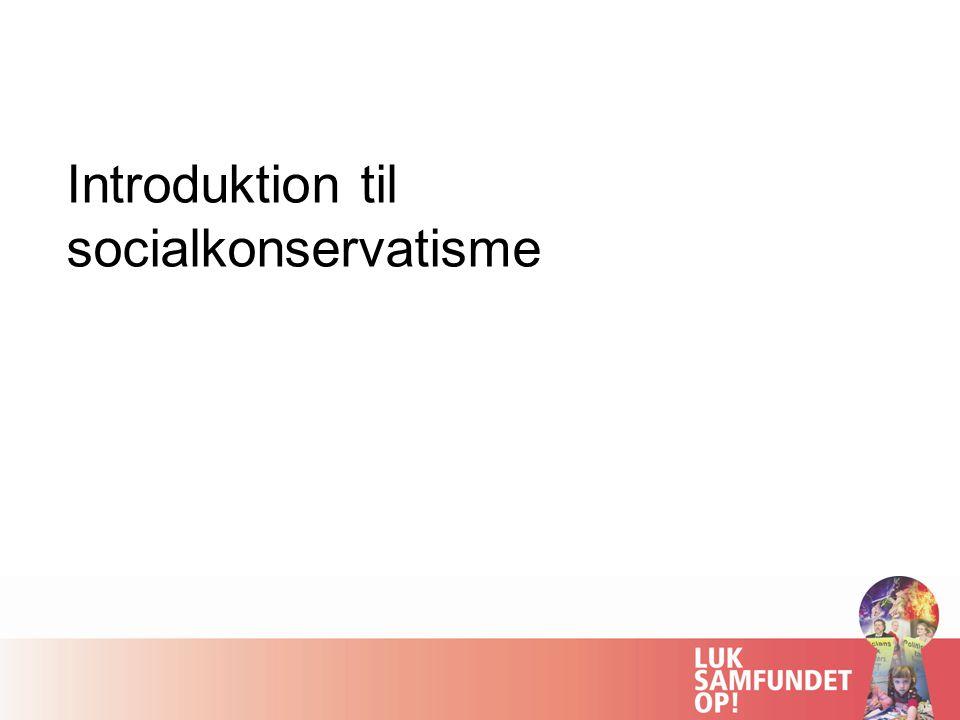 Introduktion til socialkonservatisme