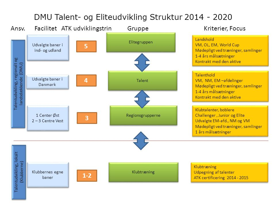 DMU Talent- og Eliteudvikling Struktur 2014 - 2020
