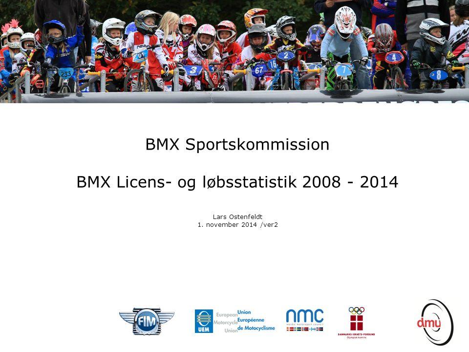 BMX Licens- og løbsstatistik 2008 - 2014