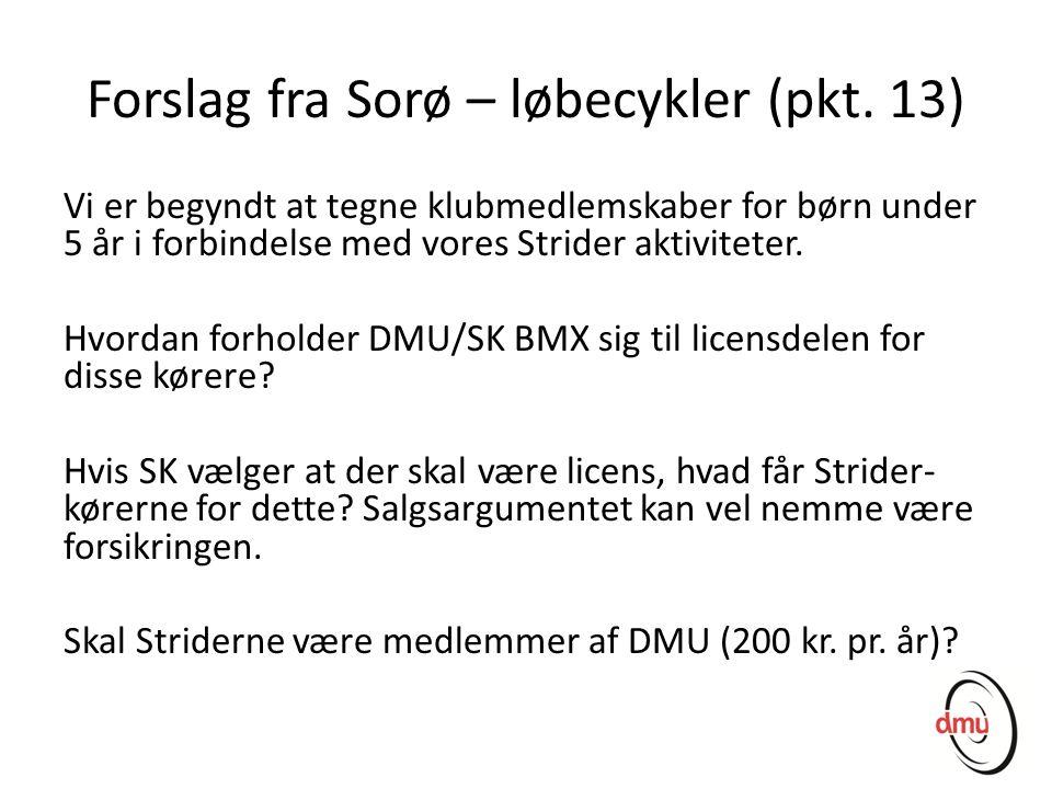 Forslag fra Sorø – løbecykler (pkt. 13)