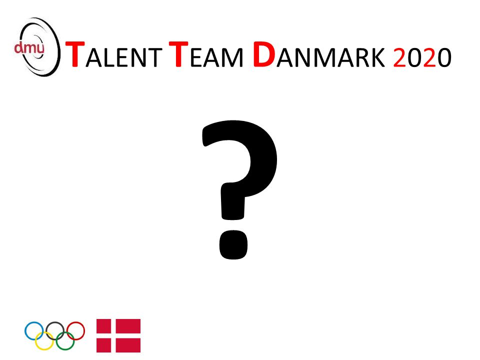 TALENT TEAM DANMARK 2020